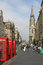 Stock Image : Three red telephone boxes Royal Mile, Edinburgh