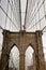 Stock Image : Threw Brooklyn bridge in New York