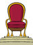 Stock Image : Throne on a pedestal