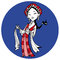 Stock Image : Tibetan girl, clipart