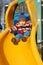 Stock Image : Toddler on slide
