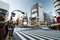 Stock Image : Tokyo, Japan - November 28, 2013: Crowds of people crossing the center of Shibuya