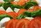 Stock Image : Tomato with mozzarella and basil