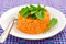Stock Image : Tomato Rice with Rocket