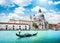 Scenic postcard view of Venice, Italy