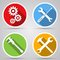Stock Image : Tools vector icons
