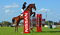 Stock Image :  Toon springende 6 barwinnaar