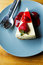 Stock Image : Top view of Strawberry Cheesecake