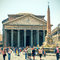 Stock Image : Tourists visit the Pantheon in Rome, Italy