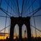 Stock Image : Tower of Brooklyn bridge New York city