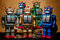 Stock Image : Toy Tin Robot Gathering 07