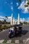 Stock Image :  Tráfico alrededor del monumento Bangkok Tailandia de la democracia