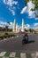 Stock Image :  Tráfico alrededor del monumento Tailandia de la democracia