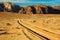 Stock Image : Tracks in sand