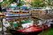 Stock Image : Traditional Indian boats in Alleppey