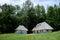 Stock Image : Traditional old rural Ukrainian wattle and daub houses,Pirogovo