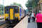 Stock Image : Train to Liverpool Lime Street at Huyton station