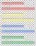 Stock Image : Transparent colored ruler vector illustration