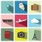 Stock Image : Travel icon set illustration eps10