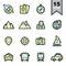 Stock Image : Travel icons set