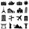 Stock Image : Travel and landmarks icons