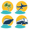Stock Image : Travel and vacation icons