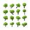 Stock Image : Tree icon set, vector eps10