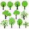 Stock Image : Trees set