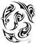 Stock Image : Tribal art tattoo set