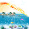 Stock Image : Tropical sea theme background