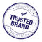 Stock Image : Trusted brand rubber stamp