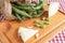 Stock Image : Tuinbonen en kaas