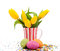 Stock Image : Tulips and eggs