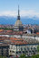 Stock Image : Turin - Mole Antonelliana - view of city and Alps