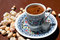 Stock Image : Turkish coffee and delights