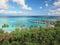 Stock Image : Turquoise lagoon in moorea