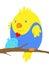 Stock Image : Two cartoon birds in love