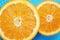 Stock Image : Two halves of orange