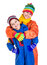 Stock Image : Two kids in winter clothes