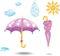Stock Image : Two umbrellas