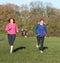 Stock Image : Two women running