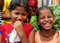 Stock Image : Two young girls in Goa