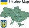 Stock Image : Ukraine map.