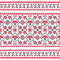 Stock Image : Ukrainian, Slavic folk knitted red emboidery pattern or print