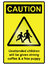 Stock Image : Unattended Children Hazard Sign