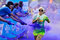 Stock Image : Unidentified people at The Color Run