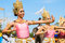Stock Image : Unidentified thai dancers dancing.  Elephant polo games during the 2013 King 's Cup Elephant Polo match on August 28, 2013 at Suri