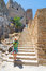 Stock Image : Unidentified tourists walking in historic town Lindos