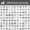 Stock Image : Universal Icon Set. 100 icons