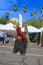 Stock Image : USA, AZ/Tempe: Festival Entertainers - Stilt Walkers/Bird  Costumes